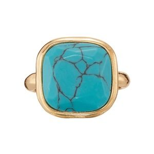 Avon Luxe look of turquoise ring